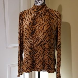 Jones New York Sport Animal Print Top